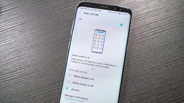 Galaxy S8 Plus ed S8: più personalizzazione per i bordi edge