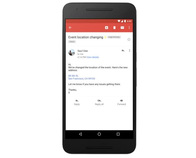 Gmail: indirizzi, email e numeri telefonici saranno link interattivi