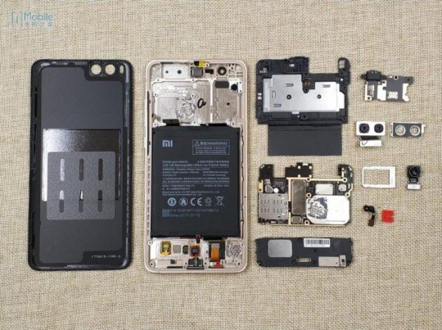Xiaomi Mi Note 3: rivelato un teardown