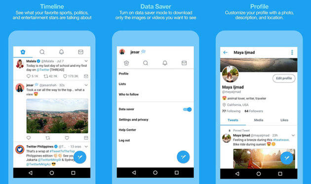Twitter Lite approda nel Play Store filippino [Link Download]