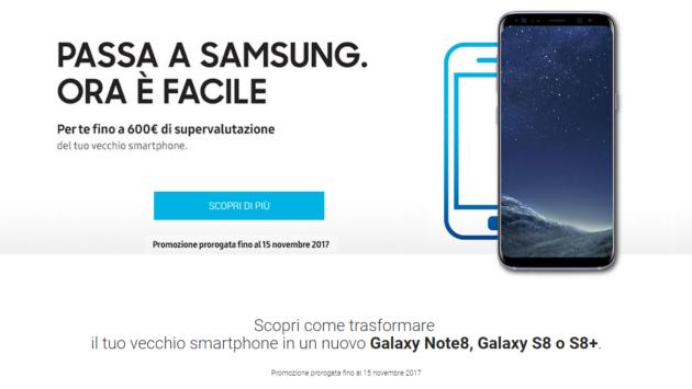 Galaxy S8, S8 Plus e Note 8: fino a 600€ di sconto entro il 15 novembre