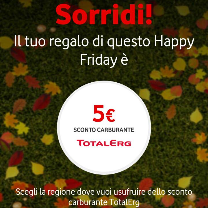 Offerta Vodafone Happy Friday il regalo di questa settimana – 31117