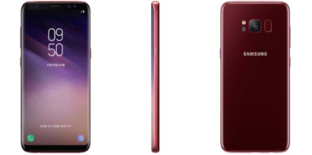 Samsung S8: Burgundy Red disponibile in Corea