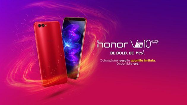 Honor View 10 Crush Red scontato a 449.90€ fino a domenica