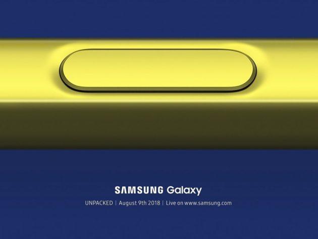 Galaxy Note 9 sarà presentato il 9 agosto a New York