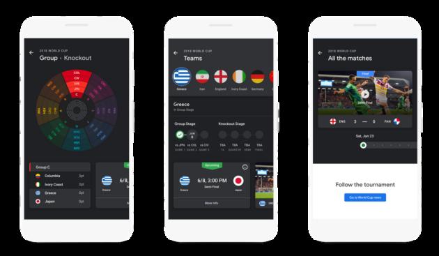 Google introduce nuove funzioni per poter seguire i mondiali di calcio