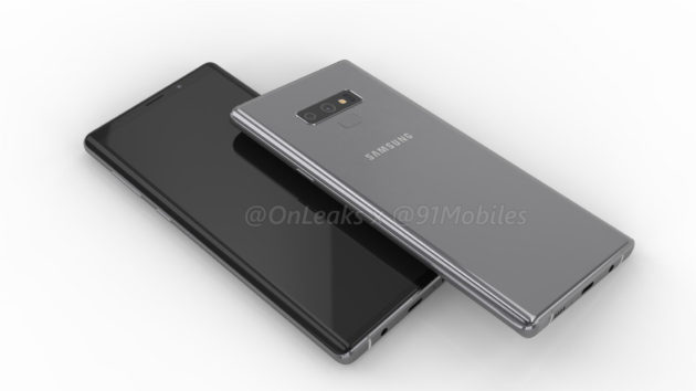 Galaxy Note 9 render: nuovo layout per la fotocamera