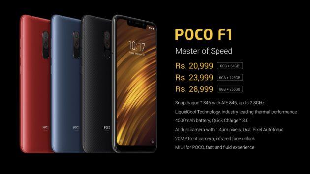 Xiaomi Pocophone F1 ufficiale, soli 260€ per un device dotato di Snapdragon 845 e batteria da 4000 mAh