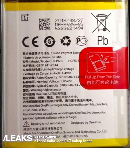 oneplus 6t batteria