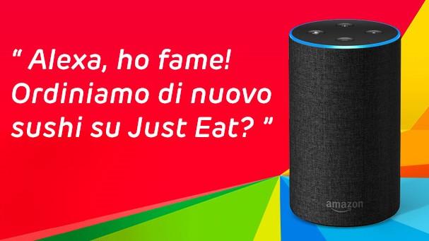 Alexa e Just Eat, un connubio gustoso