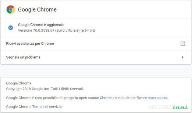 Chrome v.70: arriva il picture in picture