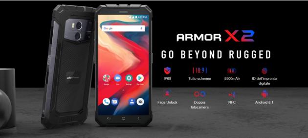 Ulefone Armor X2: smartphone rugged con CPU MediaTek e 2GB di RAM