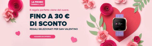 Fitbit festeggia San Valentino con sconti fino a 30€ su smartwatch e 50% sugli accessori