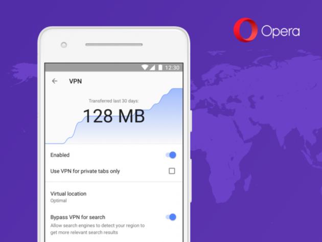 Opera: nuova VPN integrata nel browser beta