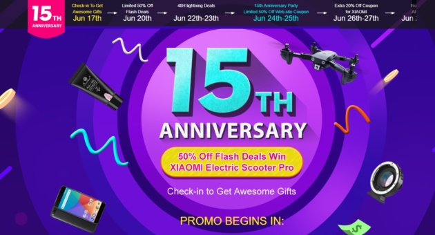 15° anniversario di Tomtop: auricolari Xiaomi in offerta