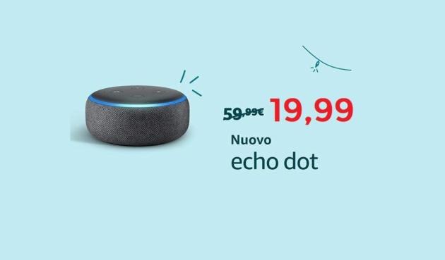 Amazon Echo Dot in super offerta a soli 19 Euro