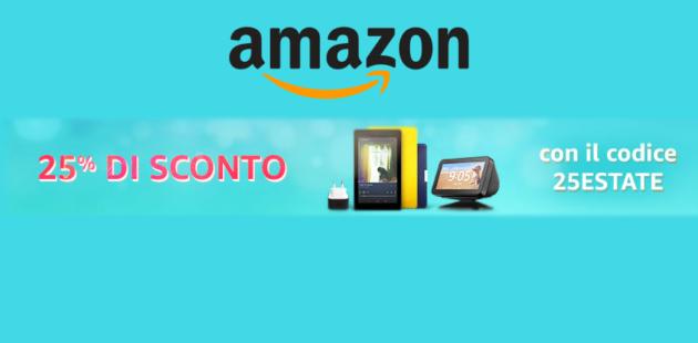 Accessori Ufficiali Amazon per kindle, Fire e Echo in sconto del 25%