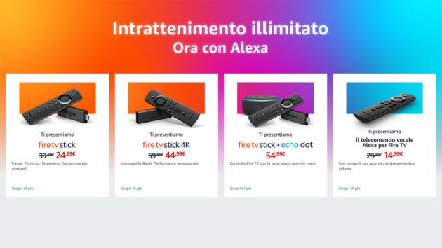 Amazon presenta un nuovo modello di Fire TV con Alexa e 4K