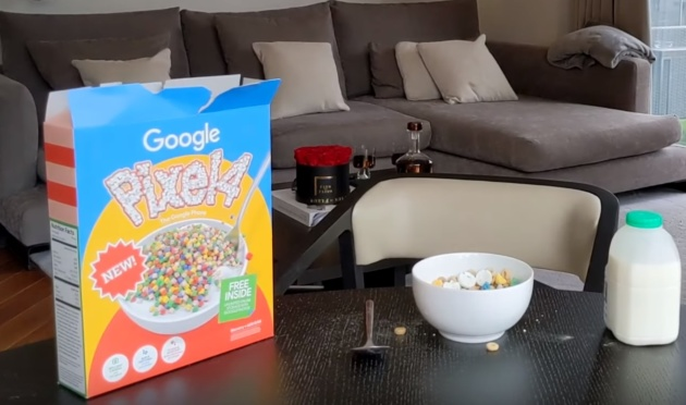 I Google Pixel 4 preordinati arrivano in una scatola di cereali