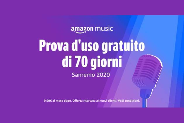 Amazon vi regala 70 giorni di Music Unlimited in occasione del Festival di Sanremo