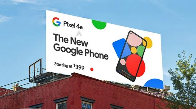 Google Pixel 4a: un cartello pubblicitario ci svela il design