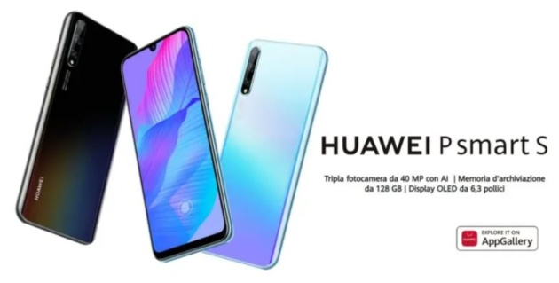 Huawei P Smart S ufficiale: display AMOLED e tripla fotocamera a 249.90€
