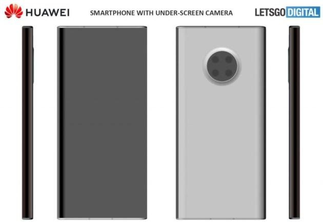 Intravisto lo smartphone con fotocamera sotto il display di Huawei