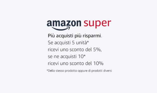 Arriva Amazon Super: più acquisti più risparmi!