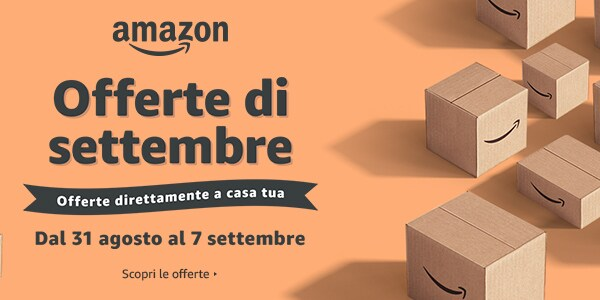 Amazon lancia le Offerte di Settembre: c'è profumo di Black Friday!