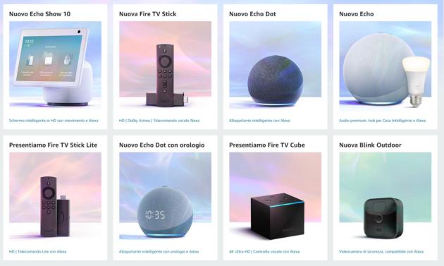 Amazon presenta la sua nuova gamma di prodotti: Echo, Fire e non solo