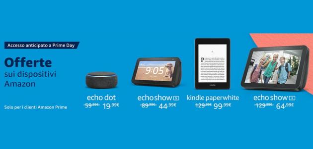 Prime Day 2020: si parte dalle offerte WOW sui dispositivi Amazon