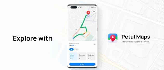 Huawei Petal Maps lancia la sfida a Google Maps