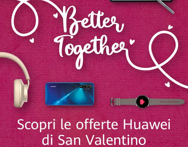 Huawei lancia la promo di San Valentino con 15 giorni di sconti