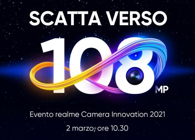 Realme presenta la fotocamera da 108MP che troveremo su Realme 8 Pro