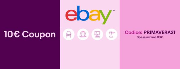 eBay festeggia la primavera con tre codici sconto