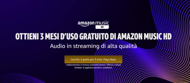 Amazon Music HD in regalo per tre mesi: Audio Streaming in una qualità mai vista prima