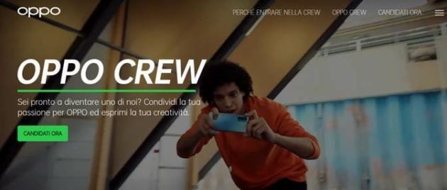 Nasce OPPO Crew, la community del brand dedicata ai content creator