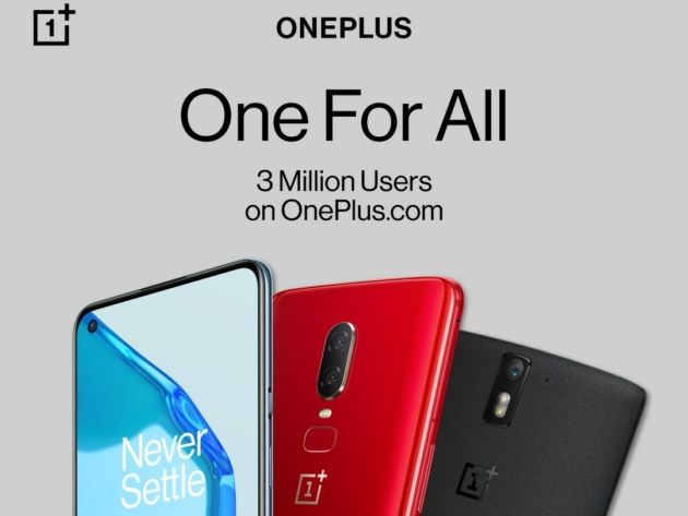 OnePlus ha annunciato il lancio di 'One For All'