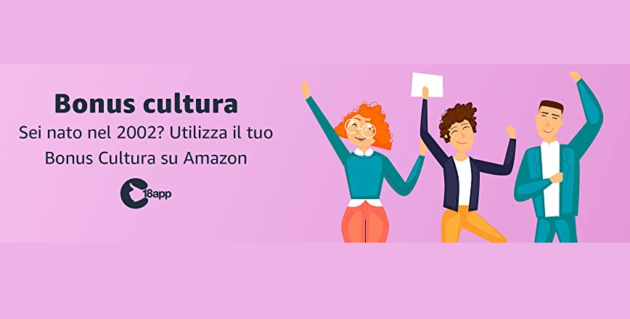 Bonus Cultura: inizia ufficialmente l'edizione 2002 su Amazon